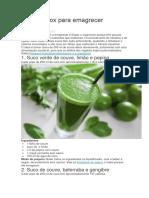 Sucos organicos detox para emagrecer