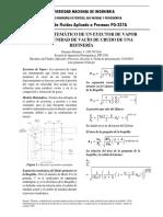 Modelo Matemático de Un Eyector de Vapor Para Una Unidad de Vacío de Crudo de Una Refinería