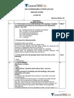 CBSE Class 12 English Core Marking Scheme 2019-20