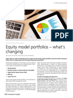 UBS WM- Equity Model Portfolios - What's Changing - June 2019