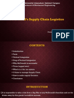 McDonald's Supply Chain Logistics