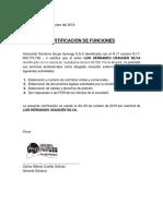 Certificación de Funciones Laborales Hsg