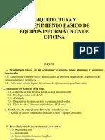 Arquitectura y Mantenimiento Basico de Equipos Informaticos de Oficina