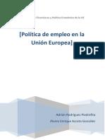 Política de Empleo en La UE