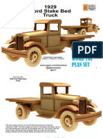 13. Ford Stake Bed 1929 Plan