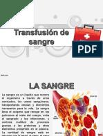 Transfucion de Sangre. Expo