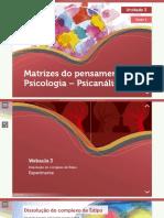MATRIZES DO PENSAMENTO PSICOLOGIA