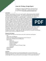 Design Report Instructions