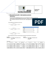 RET670 Transformer Testing Guide
