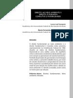 Artigo - Direito Ao Meio Ambiente x Direito à Moradia Conflitos e Possibilidades
