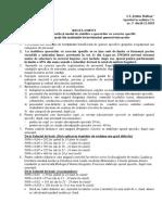 Regulament Spor Caracter Specific-model