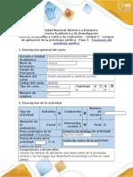Guía de Actividades y Rubrica de Evaluación - Paso 3 - Funciones Del Psicólogo Jurídico