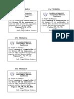 Comunicado Examen Computación Primaria