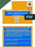 ESTABLECIMIENTOS TIPOS INSPECCION FEDERAL