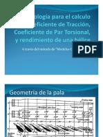Metodologia para el cálculo de coeficientes aerodinámicos de una helice