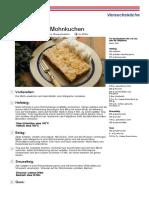 Saechsischer Mohnkuchen