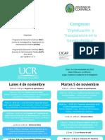 Invitacin Congreso _Digitalizacin y Transparencia en La Gestin Pblica_ CICAP-EAP-UCR