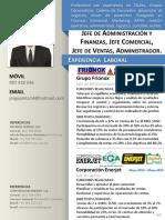 CV Jorge Pinto - Jefe de Administración y Finanzas, Jefe Comercial, Jefe de Ventas