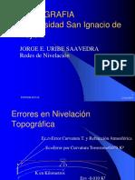 TOPOGRAFIA I Redes de Nivelacion