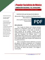 Declaración del PPS de México Sobre Evo Morales