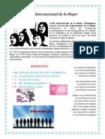Día Internacional de La Mujer- Cartelera