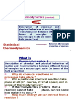 Chemical Thermodynamics- Lectures 1 and 2