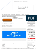 2018 MAPEH LET REVIEWER