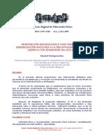 Intervencion Metodologica Para Trabajar La Sensibilizacion Asociada a Discapacidad Auditiva