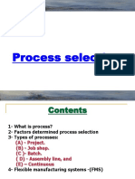 Process Selection Lec