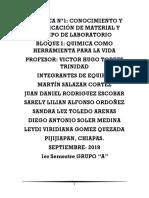 CONOCIMIENTO Y CLASIFICACIÓN DE MATERIAL Y EQUIPO DE LABORATORIO