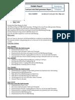 Shaft Generators Details Report