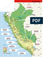 2013 Mapa de Carreteras Del Peru- Lonely Planet