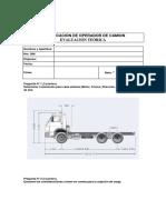 Examen Camión Baranda