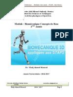 Cours Biomécanique Concepts de Base Hadj Ahmed Mourad