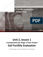 Soil fertility evaluation