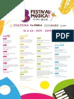 Festival Musica El Oro 2019 programa