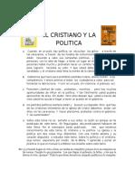 El cristiano y la política