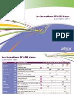 Calendrier Formations AFNOR Maroc 2019