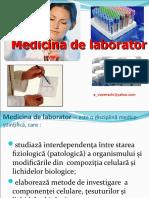 medicina de laborator