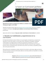 10 Consejos Para Hacer Un Curriculum Vitae Perfecto _ Plantilla de CV