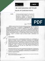 RESOLUCION N°2149-2019-TCE-S1 (RECURSO APELACION)