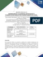 Informe Practica 4 Cromatografia