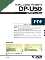 Service Manual - Yamaha DP-U50 Personal Audio Processor