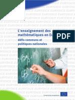 L'Enseignement Des Maths en Europe