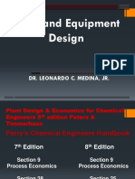 Process Equipment Design & Unit Operation Economics