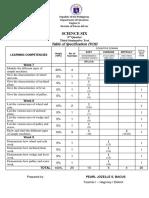 Science 6 summative Test 3rd Grading
