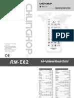 Rm e82八国语说明书未简化的