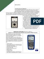 Documento El Multimetro o Probador Electrico