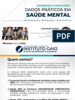 Workshop Saúde Mental - Prof.Euzébio - INSTITUTO GAIO 2019