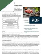 Nilai Gizi Daging Rusa vs Daging Sapi Makan Sehat Gerbang SF